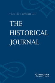 The Historical Journal cover