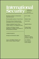 International Security (journal) cover