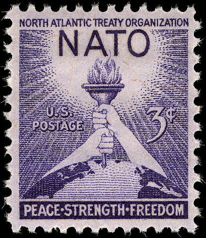 US 1952 NATO 3 cent stamp
