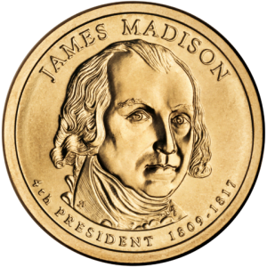 James Madison Presidential $1 Coin